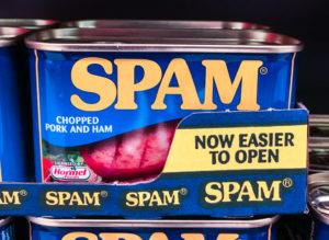 Dose Frühstücksfleisch der  Marke SPAM