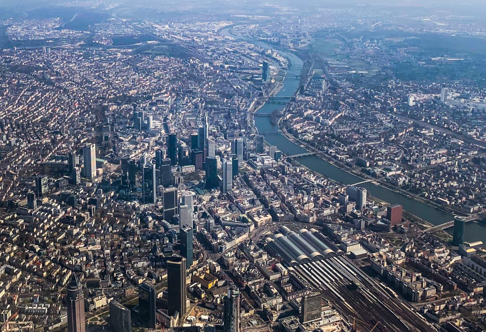 Luftansicht von Frankfurt am Main