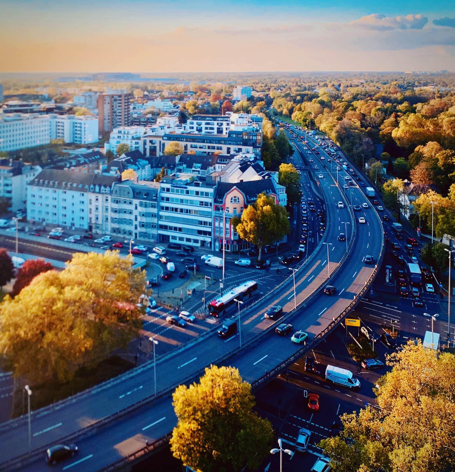 Düsseldorf von oben gesehen