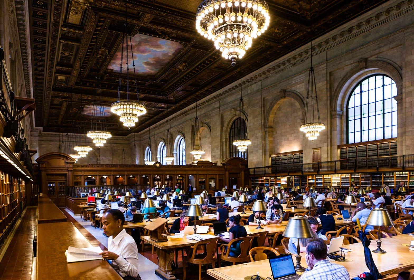 großer Lesesaal der New York Public Library